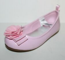 baby Gap NWT Girls 6 Pink Patent Ballet Flats Shoes w/ 3-D Rosette Bow