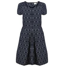 NEW EX FAT FACE VINTAGE STYLE NAVY FLORAL DRESS - SIZE 10 - 16