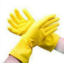 Yellow Waterproof Protective Dishwashing Gloves Clean Orange Laundry Rubber