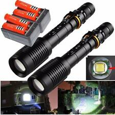 2X 3000Lumen CREE XML T6 Zoom LED Flashlight Rechargeable 18650 Battery Charger