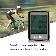 3-in-1 Wireless LCD Bicycle Cycling Computer + Cadence Heart Rate Monitor U9U0