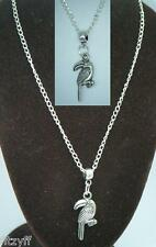 "18"" 24"" Inch Chain Necklace 3D Parrot Pendant Charm psittacine Bird Lovers Gift"