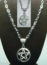 """20"""" or 24"""" Inch Necklace & Pentacle Pentagram Pendant Wicca Star Wiccan Pagan"""