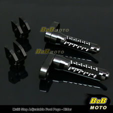 FOR Yamaha BT1100 Bulldog All Year Multi Step Adjustable Front Foot Pegs