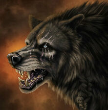 Art wall Home Decor Modern HD print animal oil painting canvas Fantasy Wolf W014
