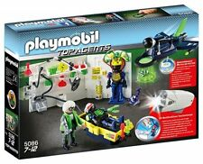 Playmobil:5086 Top Agents-Agent Labatory with Jet 94 Pieces torch,metal detector