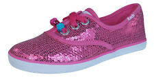 Keds Champion K Girls Lace Up Sequin Trainers / Shoes - Pink
