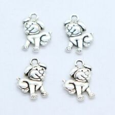 14/42/200pcs Tibetan Silver Cute Dog Charms Pendants Beads for Jewelry Making