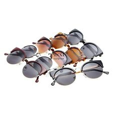 Designer Retro Womens Oversized Round Circle Half Tinted Lens Sunglasses TXSU