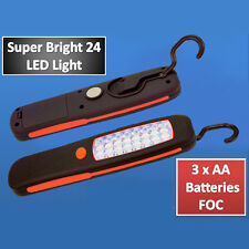Cordless Magnetic 24 LED Inspection Lamp Torch Flashlight Light Camping Work UK