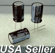 1000uF 25V Nichicon Low-ESR Electrolytic Capacitors 105C 3pcs / 10pcs - USA Ship
