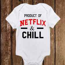 Product of Netflix and Chill - Funny Baby Girl & Boy Clothes Bodysuit Onesie