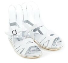 NEW Kids' coast leather sandals in white Girl's by SKEANIE