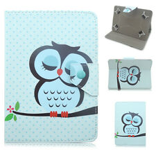 "Cartoon Owl PU Leather Cover case For Universal 7""-7.9"" 9.7""-10.1"" Tablet PC"