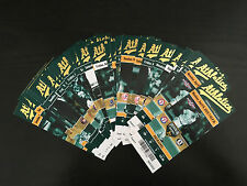 2015 Oakland A's Athletics Full Tickets YOU PICK ONE GAME Pujols Felix Hernandez
