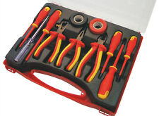 Am-Tech 11pc Electrical Electricians Tool Kit 1000V AC & 1500V DC Wire Stripper