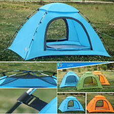 3 Color Camping/Outdoor 1-2 Person Double-layer Waterproof Camping Aluminum Tent