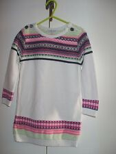Girls Marks and Spencer fairisle knitted dress age 4-5 years