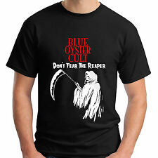 New BOC BLUE OYSTER CULT Reaper Logo Rock Band Black T-Shirt Size S-5XL