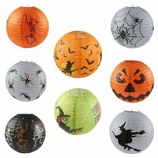 Halloween Paper Pumpkin Witch Hanging Lantern Lights Lamps Festival Party Decor