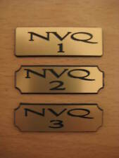 Engraved - NVQ Qualification 1, 2 , 3 or 4 Lapel Pin Badges - Choice of finish