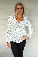 Magic Temple Blouse in White BNWT Size 8 Left by Sunny Girl