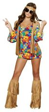 Women's 60's Woodstock Halloween Costume Hippie Hottie