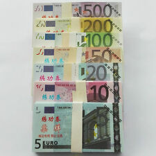 A Set 700pcs EURO 500 200 100 50 20 10 5 Training Banknotes Paper Money Bill
