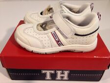 NWB BABY TODDLER TOMMY HILFIGER 6 7 7.5 MELBOURNE WHITE NAVY TENNIS SHOES *314