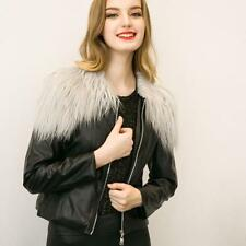 Sexy Womens Leather Jacket Blazer Slim Biker Motorcycle Jacket Zipper Short Coat