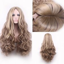 womens wigs blonde hair long curly blonde wig cosplay blond ombre pastel wig