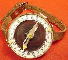 Vintage Soviet USSR Russian Real Military ARMY Compass+Leather Hand-Strap WWII