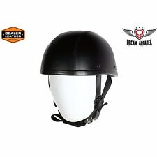 Leather Cover Eagle Novelty Motorcycle Helmet With Adjustable Chin Strap
