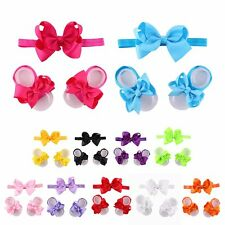3Pcs Wholesale Baby Infant Headband Foot Flower Elastic Hair Band Accessories