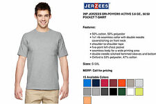 Jerzees T-Shirt Tee Men's Short Sleeve Heavyweight Blend Pocket Solid Basic 29P