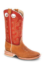 Womens Tan Cowgirl Western Leather Rodeo Boots REDHAWK 5145 Size 5-10 (B, M)