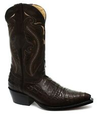 Grinders Womens indiana BROWN Real Leather Cowboy Western Mid Calf Toe Boots