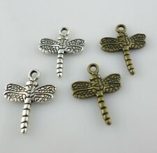 20/40/350pcs Tibetan Silver/Bronze Dragonfly Charms Pendants for Jewelry Finding