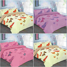 NEW ELSA BIUTTERFLY DUVET QUILT COVER BEDDING SET SINGLE DOUBLE KING SUPERKING