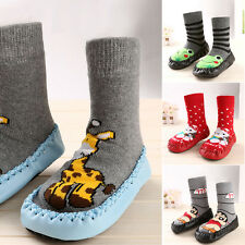 Baby Kids Toddler Girls Boys Anti-Slip Socks Shoes Boots Cartoon 4 Styles USA