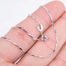 Charming Ladies 18Inch Fashion Solid 925 Sterling Silver Necklace Jewelry H768