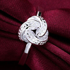 Dazzling Ladies Knot Style Fashion 925 Sterling Silver Ring Jewelry H843