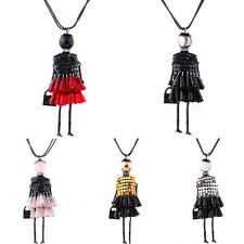 New Doll Vintage Long Sexy Crystal Retro Women Girl Chain Pendant Necklace Hot