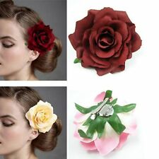 Woman Peony Flower Hair Clip Brooch Beach Wedding Bridal Banquet Party Hairpin