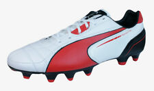 Puma Momentta FG Mens Leather Soccer Cleats / Boots - White Red Black
