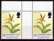 Great Britain-1998, plant (orchid), gutter pair, MNH**