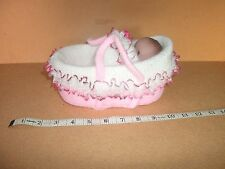 Dolls Pink & White Carrycot with 5