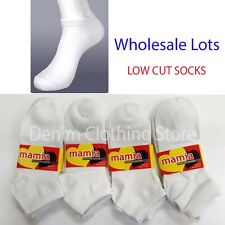 240pairs Women Girl Solid White Ankle Quarter Low Cut Socks Wholesale Lots Gift