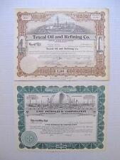 Two Different Pictorial U.S. Oil Stock Certificates