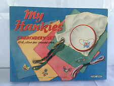 VINTAGE MY HANKIES EMBROIDERY SET SPEARS GAMES IN BOX NEVER USED